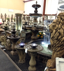 Edward's Garden Center has a huge selection of water features.